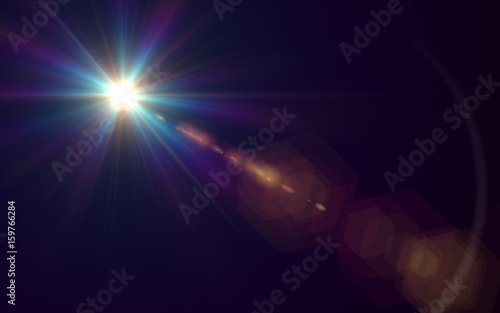 Abstract Lens Flare light over background Tableau sur Toile