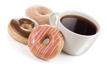 Large Mug Of Black Coffee With...