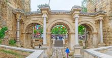 The Hadrian's Gate In Antalya