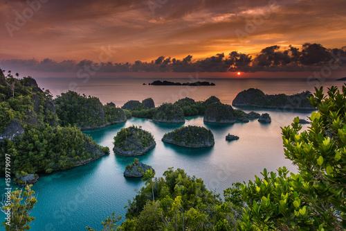 Foto op Aluminium Diepbruine Indonesia superb sunset in Papua