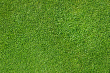 Top View Of Golf Course Green As A Background