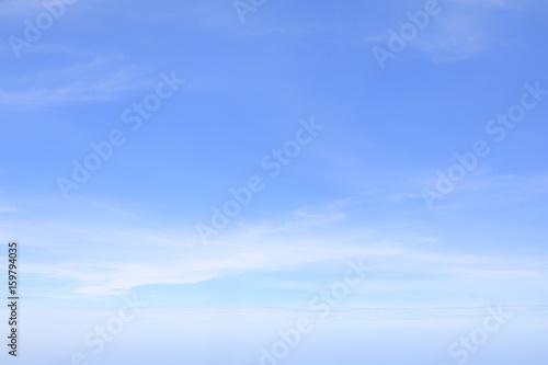 Aluminium Prints Heaven Blue sky and clouds