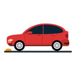 parked car sideview icon image vector illustration design