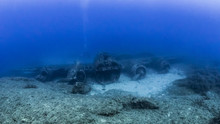 View Of Flying Fortress Underwater