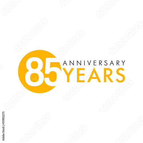 Fotografia  85 years old round logo