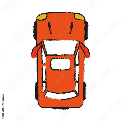 Car Topview Icon Image Vector Illustration Design Sketch Style Buy