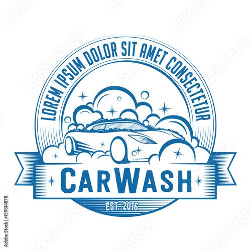 Fotografía  Car Wash logo. Vector and illustration. T-shirt design.