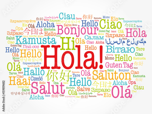Hola hello greeting in spanish word cloud in different languages hola hello greeting in spanish word cloud in different languages of the world m4hsunfo