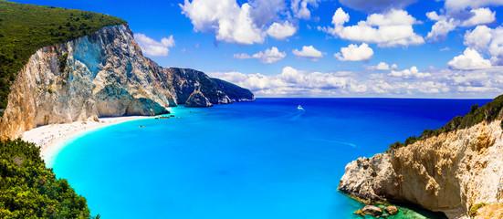 One of the most beautiful beaches of Greece- Porto Katsiki in Lefkada