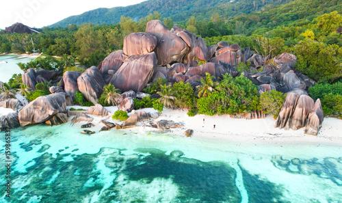 Fotografie, Obraz Küste am Seychellenstrand