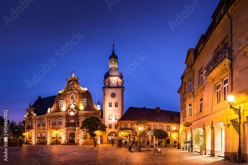 Poster Cracovie Ettlingen bei Nacht
