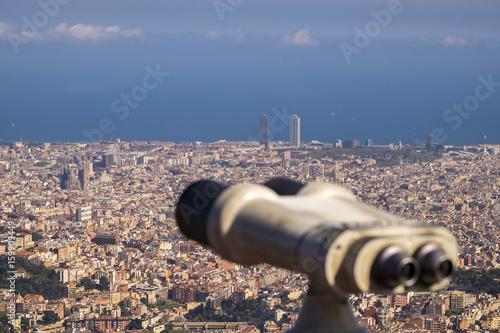 Photo Barcelona view from Tibidabo (Serra de Collserola)