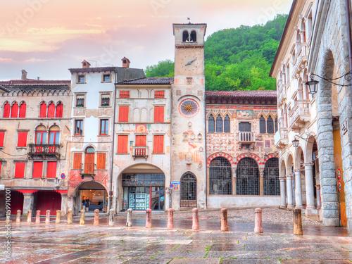 Fotografie, Obraz  Piazza Marc Antonio Flaminio in Serravalle, Vittorio Veneto