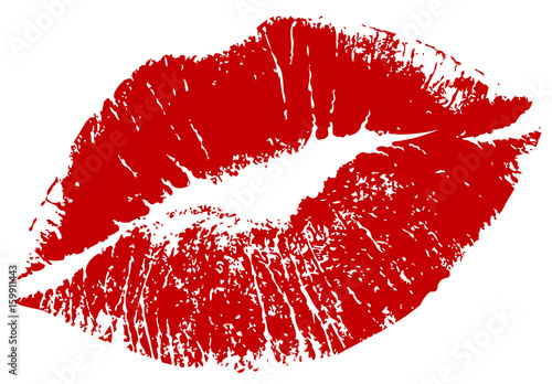 lips tracing Fototapeta