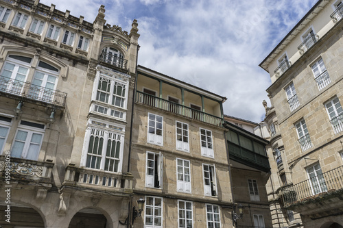 Old and classic buildings of the Spanish city of Orense, Galicia