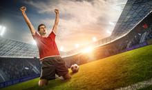 Jubelnder Fußballspieler