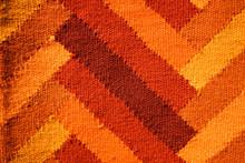 Orange Tone Zig Zag Pattern