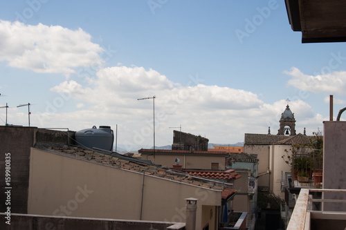 Fényképezés  Ital Sicily Biancavilla - A city of the interland Etna