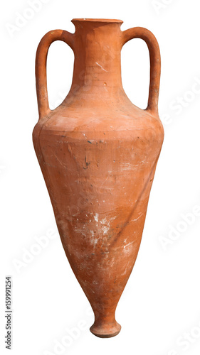 Ancient amphora isolated Canvas Print