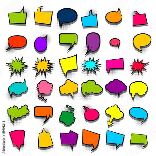 komiks-zabawny-zestaw-komiks-kreskowka-tekst-kolorowe-puste-chmury-sprzedam-baner-abstrakcjonistyczna-kreatywnie-reka-rysujacy-wektorowy-kolorowy-pusty-babel-balon-komiksowy-mowy-w-stylu-pop-artu-w-tle-kropki-poltonow