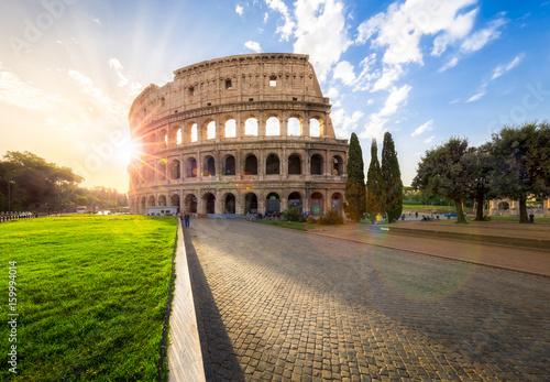 Photo  Das Kolosseum in Rom, Italien