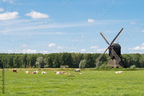 Hollow post windmill in Brabant, Netherlands