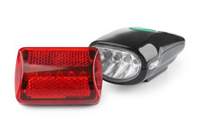 Safety Lights For Bicycle On White Background