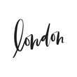 London Brush Lettering Vector