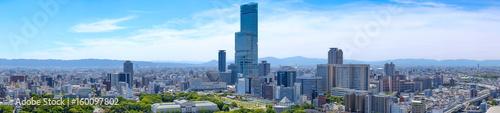 Fototapeta premium Krajobraz miasta Osaka, widok na miasto, miasto Osaka, Japonia.