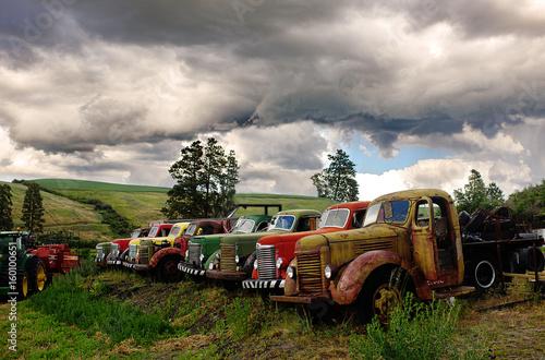 Photo vintage trucks