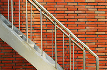 Outside Steel Stairs With Balustrade