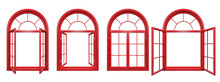 Collection Of Red Arched Windo...