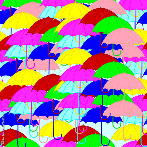 Colorful Umbrellas Seamless Pattern For Decorating Paper Wallpaper Fabric Background Vector