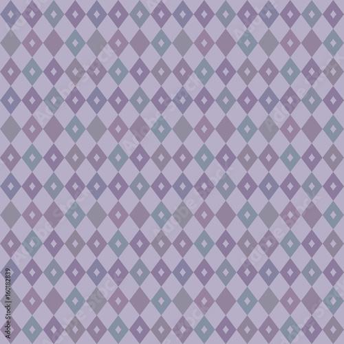 elegant seamless Victorian wallpaper background retro purple diamond check geometry cross kaleidoscope