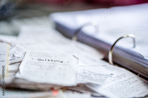 Fotografie, Obraz  Beleg, Chaos, Steuererklärung