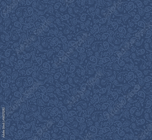 Fototapeta seamless denim paisley pattern