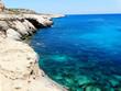 rocky coast landscape mediterranean sea Cyprus island