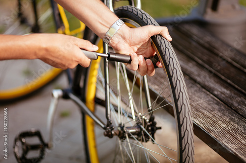 Inflate A Bike Tire