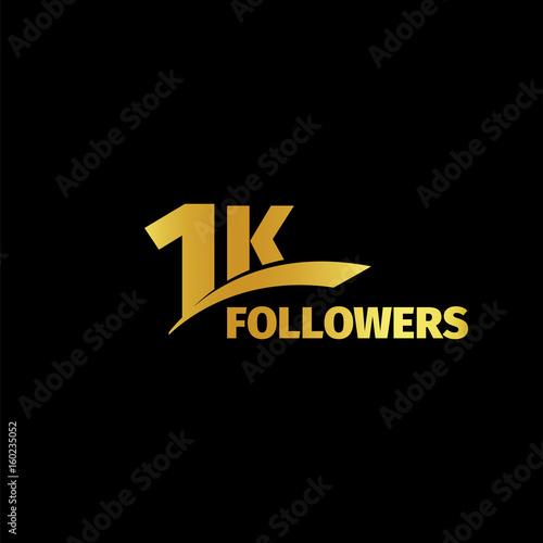 Fotografía  1K followers vector illustration. 1000