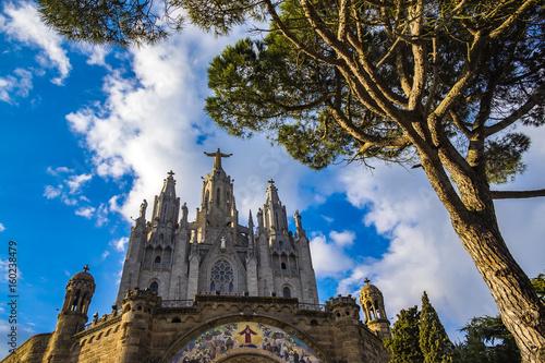 Plakat Ekspiacyjny Kościół Najświętszego Serca na Tibidabo, Barcelona,