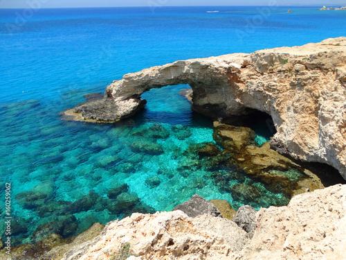 Foto op Plexiglas Cyprus rocky coast landscape mediterranean sea Cyprus island