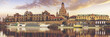 Panorama of Dresden, Germany.Vintage color tone