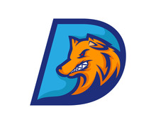 Modern Dog D Letter Alphabet S...
