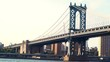 Manhattan Bridge over the East River in New York City