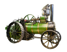 Old Tractor With Steam Engine ...
