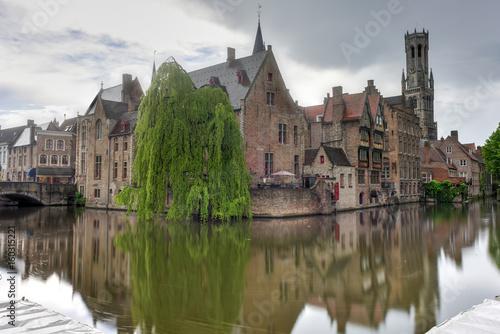 Poster Brugge Canals of Bruges, Belgium