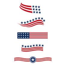 USA Star Flag Logo Stripes Des...
