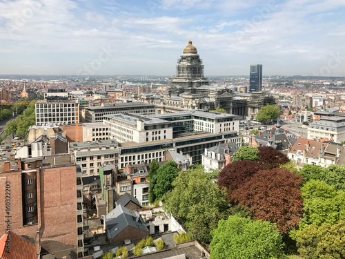Foto op Canvas Brussel Brussels City Skyline