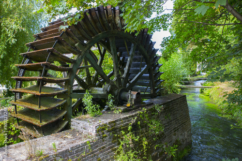 Stickers pour porte Moulins Watermill in Veules-les-Roses - Normandy (France)