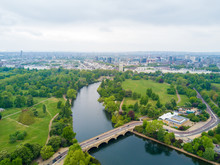 Aerial Hyde Park View In London